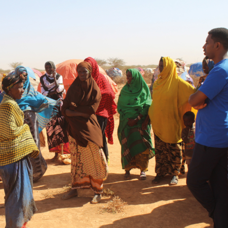 The women receive extra training to cope with the East Africa drought