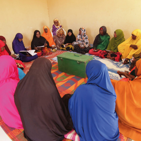 Women at the self-help group in East Africa