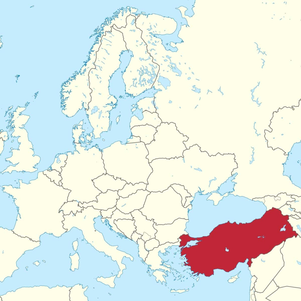 projects for refugees - map turkey