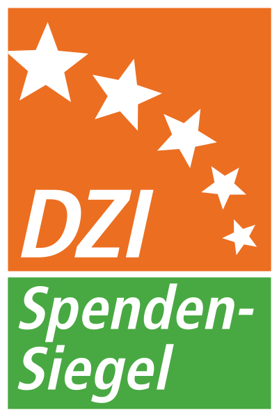 """Als Hilfsorganisation haben wir das DZI Spendensiegel"""""""