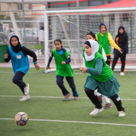 Girls football in Jordan strengthens girls' self-confidence