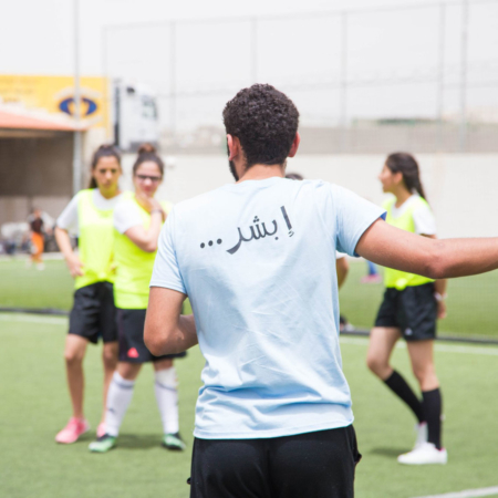 Training every day to get better: girls soccer project in Jordan