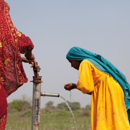Drinkable safe water coming from a pump, Pakistan