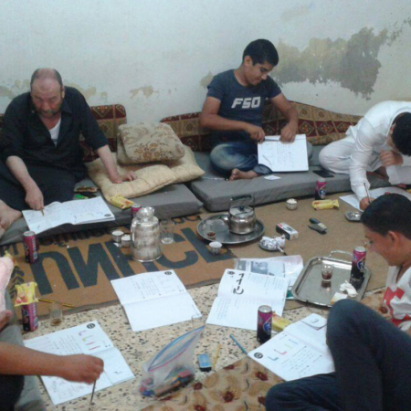 Also, refugee men in Jordan get support and help in our literacy project