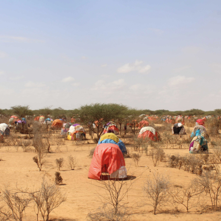 The women we support live in tents with their families in East Africa