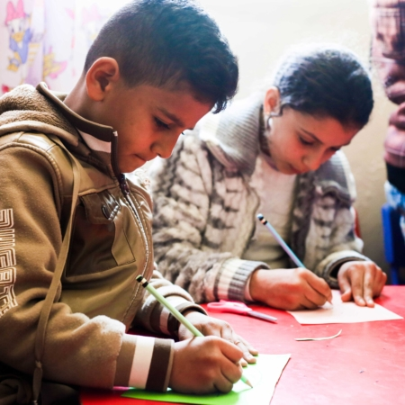 """""""The children of refugees in Jordan need education"""