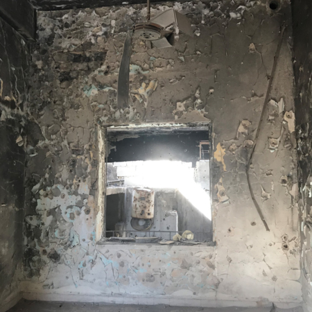 Help in Syria – Inside of a damaged house