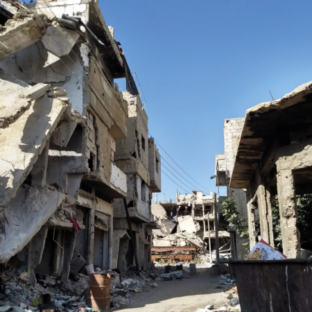 Help in Syria - A Street in Homs