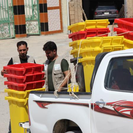 Youth Iraq - waste bins