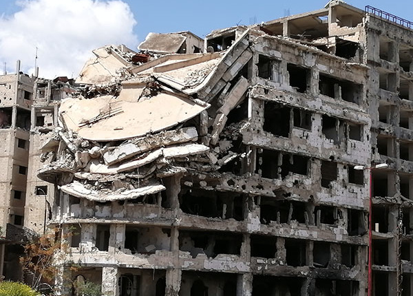 Reconstruction Syria - Damaged houses