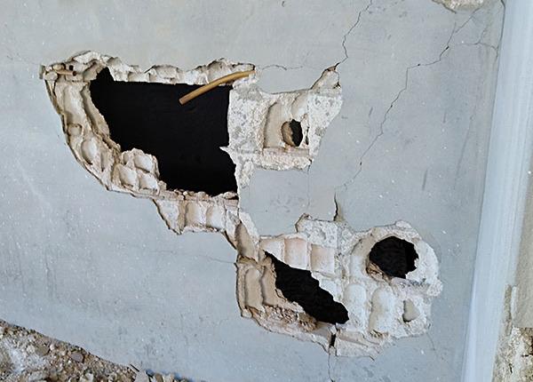 Reconstruction Syria - Damaged walls